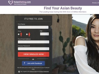 Asian Dating Homepage Image
