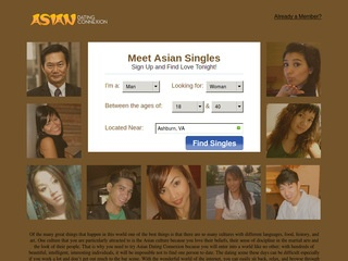 Asia Friendfinder Homepage Image